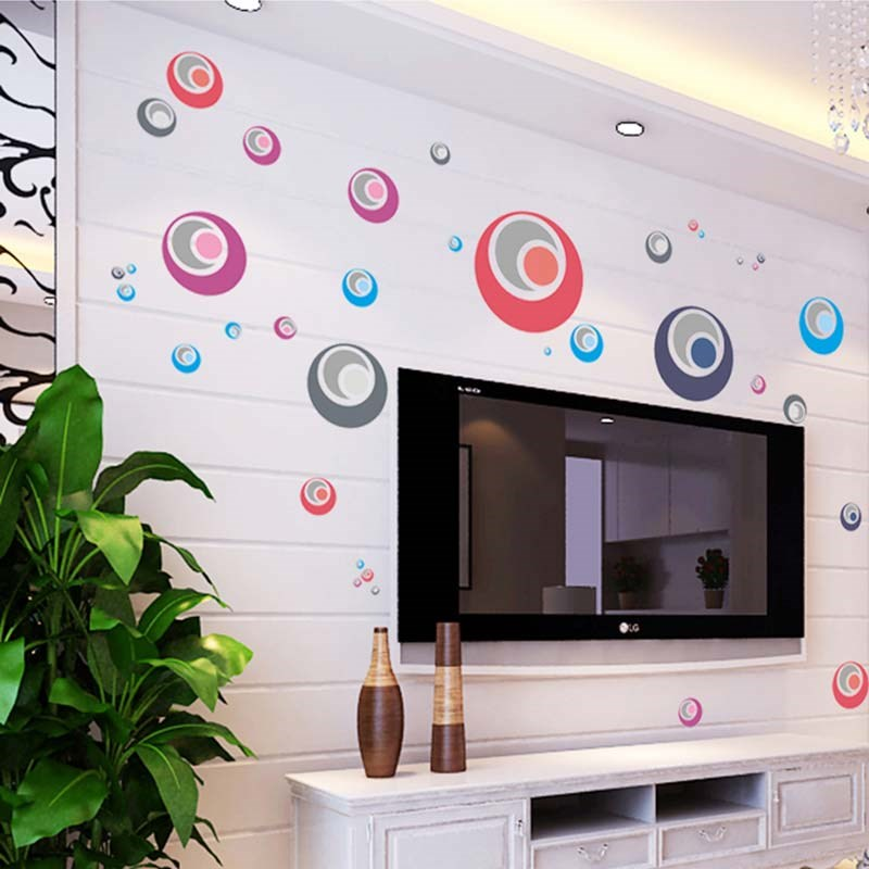 Wall sticker Stiker Dinding Polka Warna AY1926