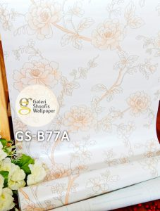 Wallpaper Sticker Motif Bunga kode GS-B77A