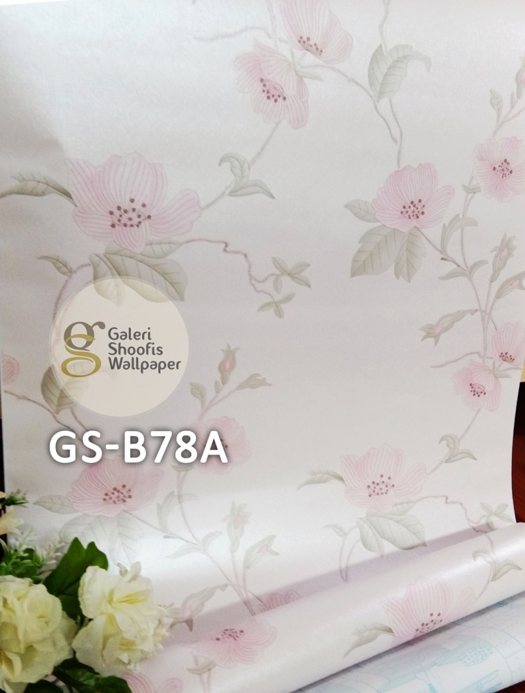 Wallpaper Sticker Motif Bunga kode GS-B78A