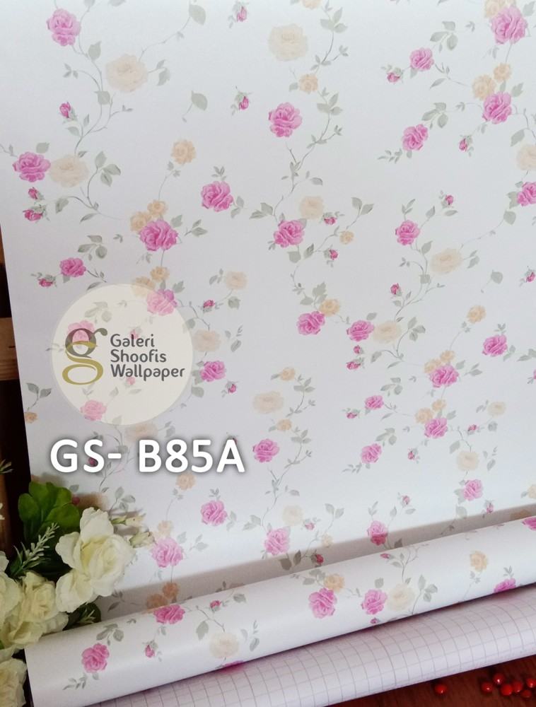 Wallpaper Sticker Motif Bunga Kode GS-B85A