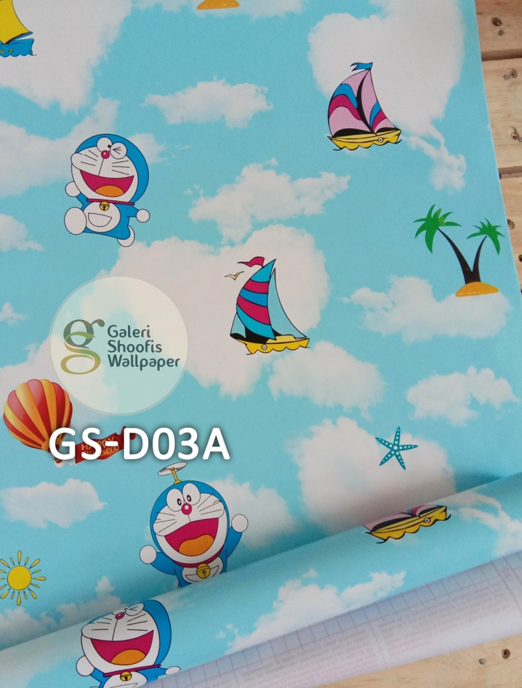 Wallpaper Sticker Motif Doraemon Kode GS-D03A