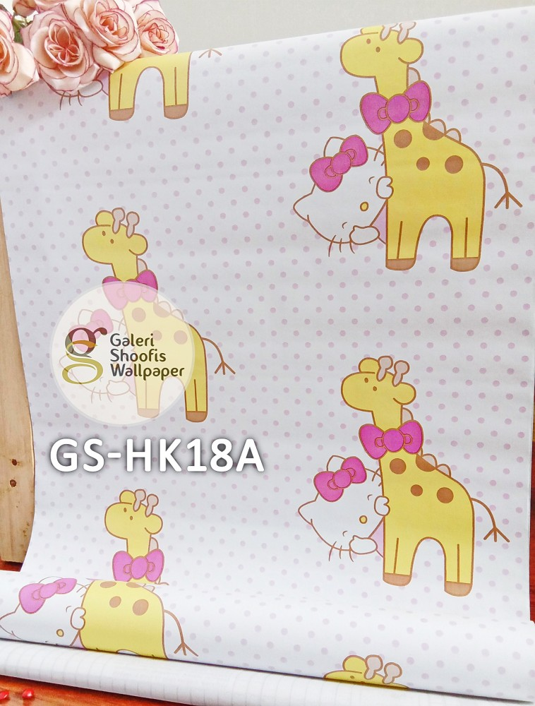 Wallpaper Sticker Motif Hello Kitty Kode GS-HK18A