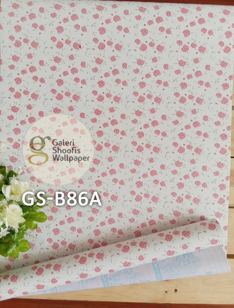 Wallpaper Sticker Motif Bunga kode GS-B86A
