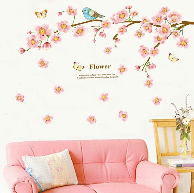 Wall sticker Stiker Dinding Sakura Peach JM7296