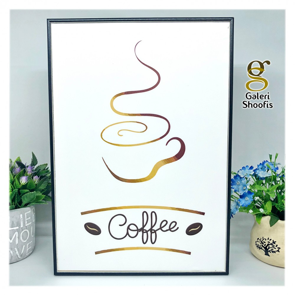 Poster Dinding Frame Coffee