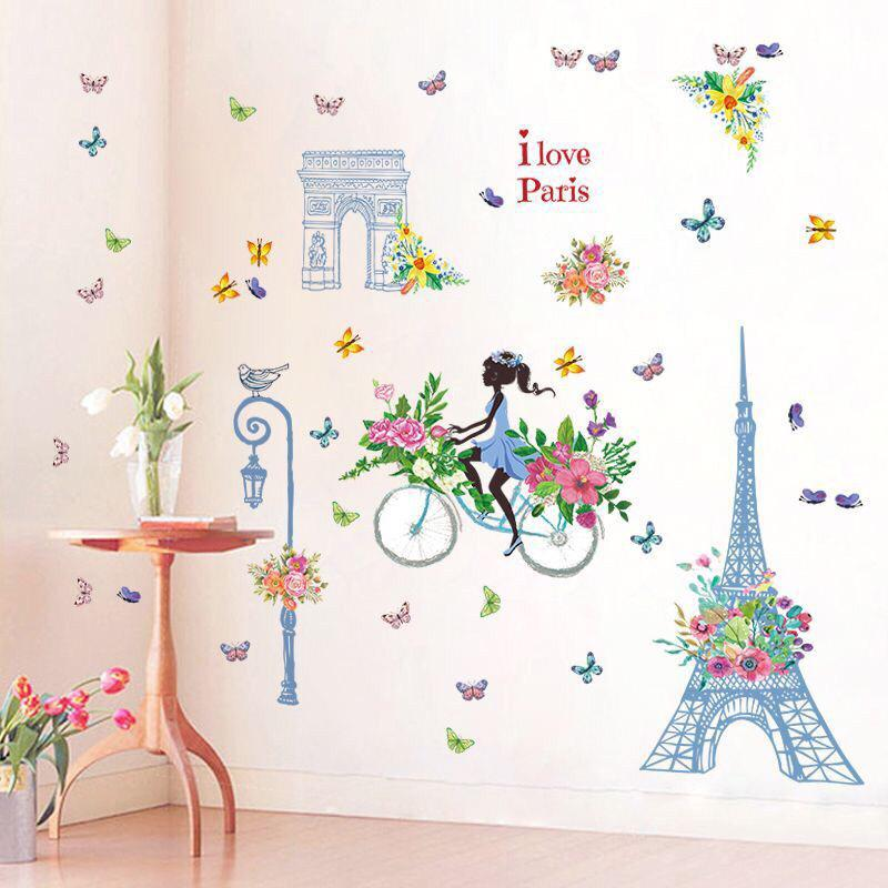 Wall Sticker I Love Paris Bunga