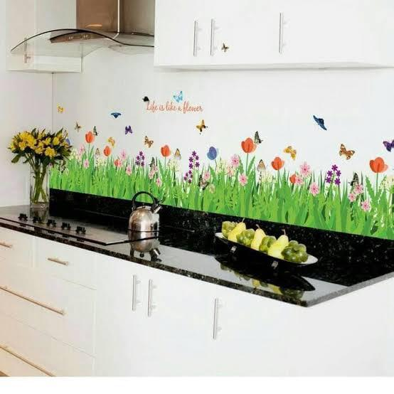 Wall Sticker Pagar Bunga Tulip