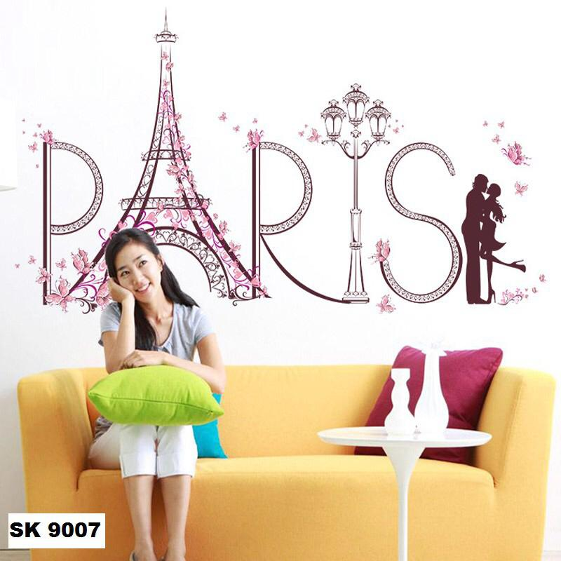 Wall Sticker Paris Pink