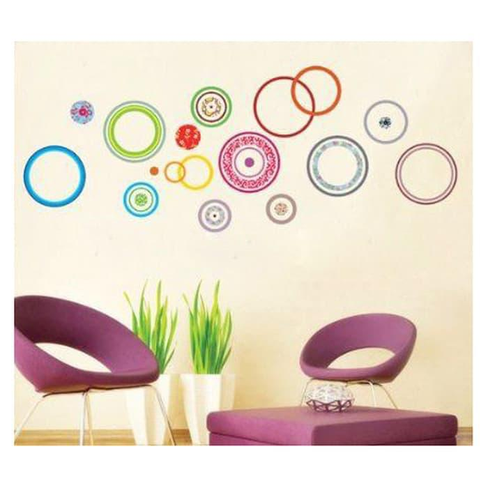 Wall Sticker Ring Polka Warna