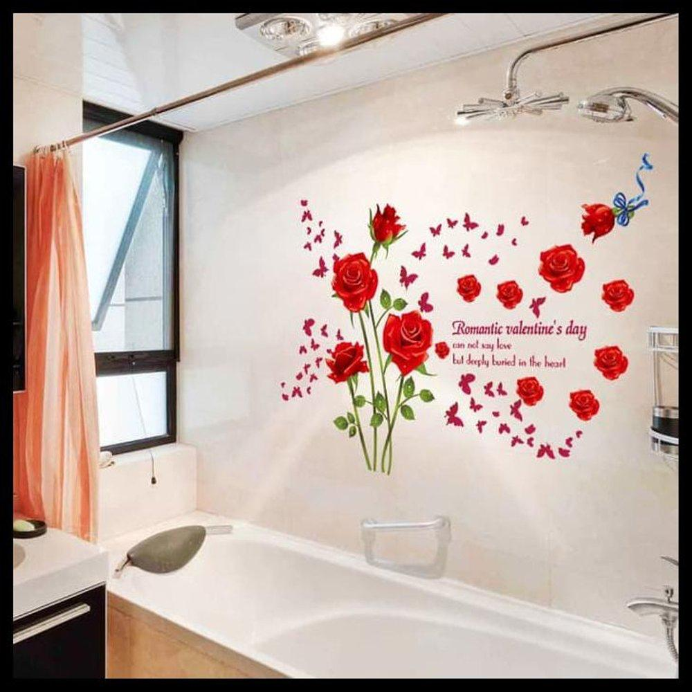 Wall Sticker Rose Merah