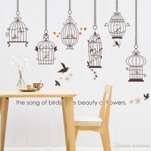 Wall Sticker Sangkar Song of Birds