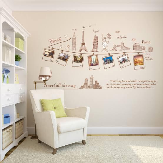 Wall Sticker Travel Frame Foto
