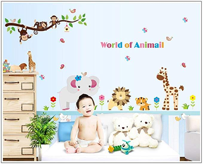Wall Sticker World of Animal