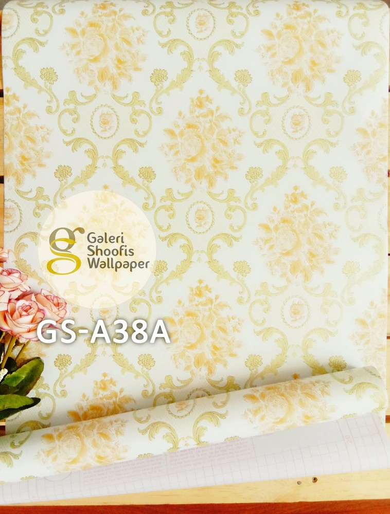Wallpaper Sticker Motif Batik Kode GS-A38A