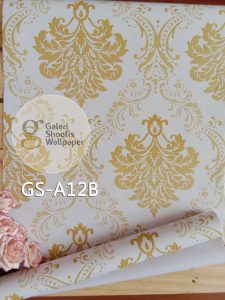Wallpaper Sticker Motif Batik Gold A12B
