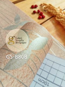 Wallpaper Sticker Motif Bunga Minimalis Kode GS-B80B