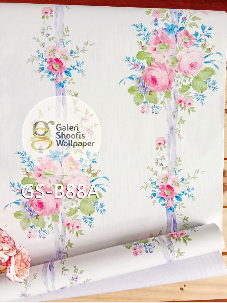 Wallpaper Sticker Motif Bunga Kode GS-B88A