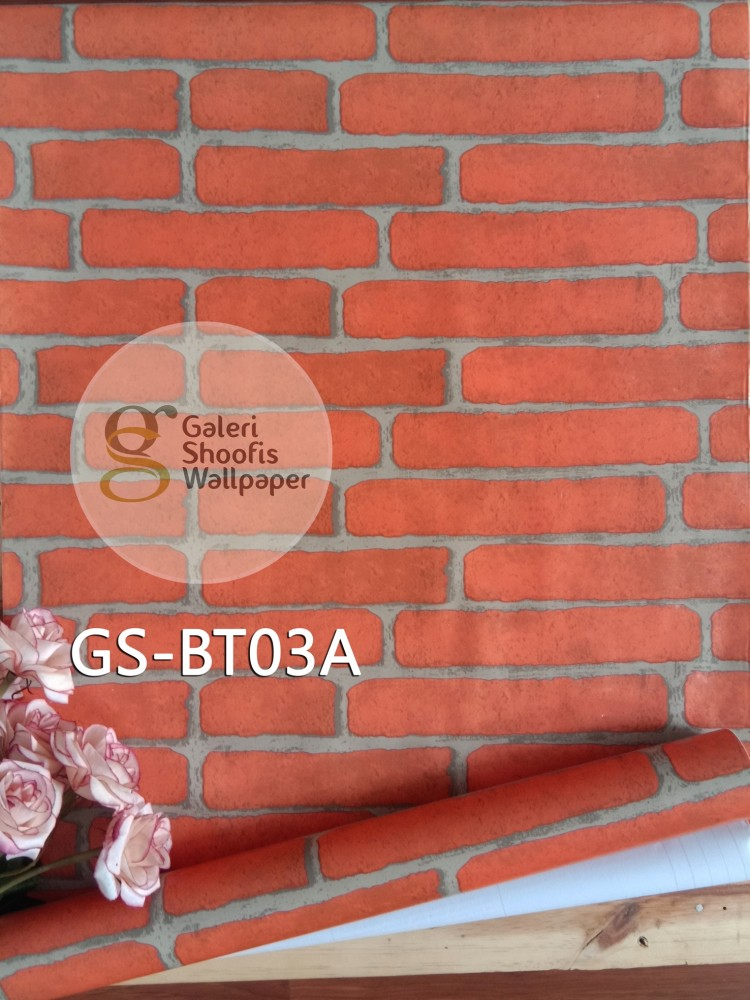 Wallpaper Sticker Motif Bata Orange kode GS-BT03A