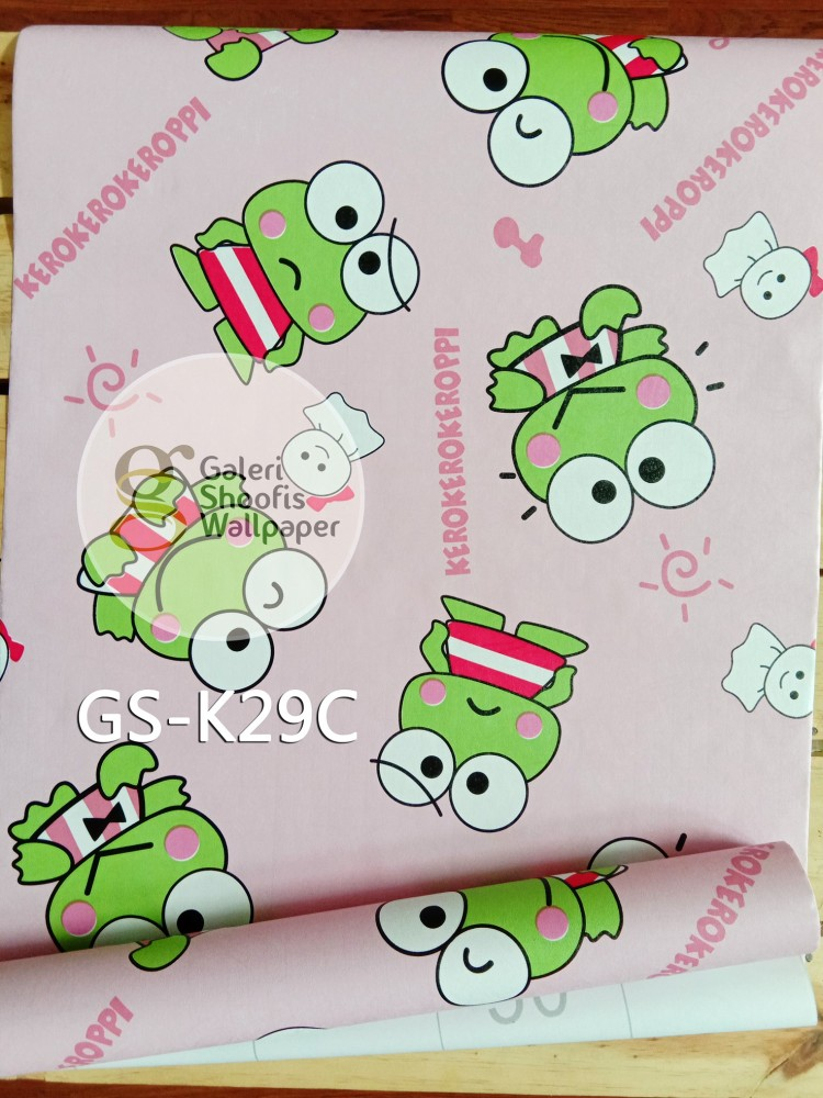 Wallpaper Sticker Motif Keroppi Pink kode GS-K29C
