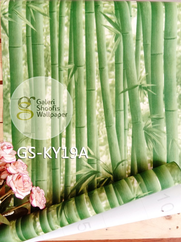 Wallpaper Sticker Motif Bambu kode GS-KY19A