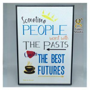 Poster Dinding Frame Sometime People Putih