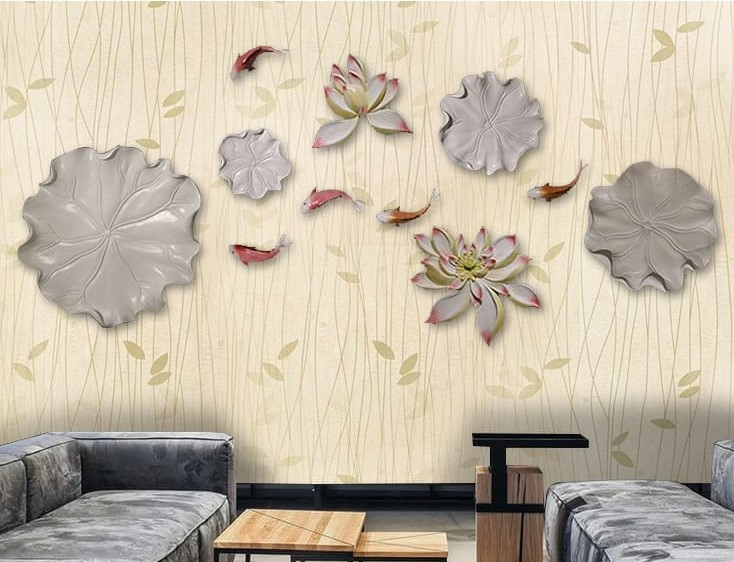 Wallpaper Sticker Motif Bunga Minimalis Kode 80B