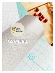 Wallpaper Sticker Motif Segi Tiga Abu Toska kode GS-M58B