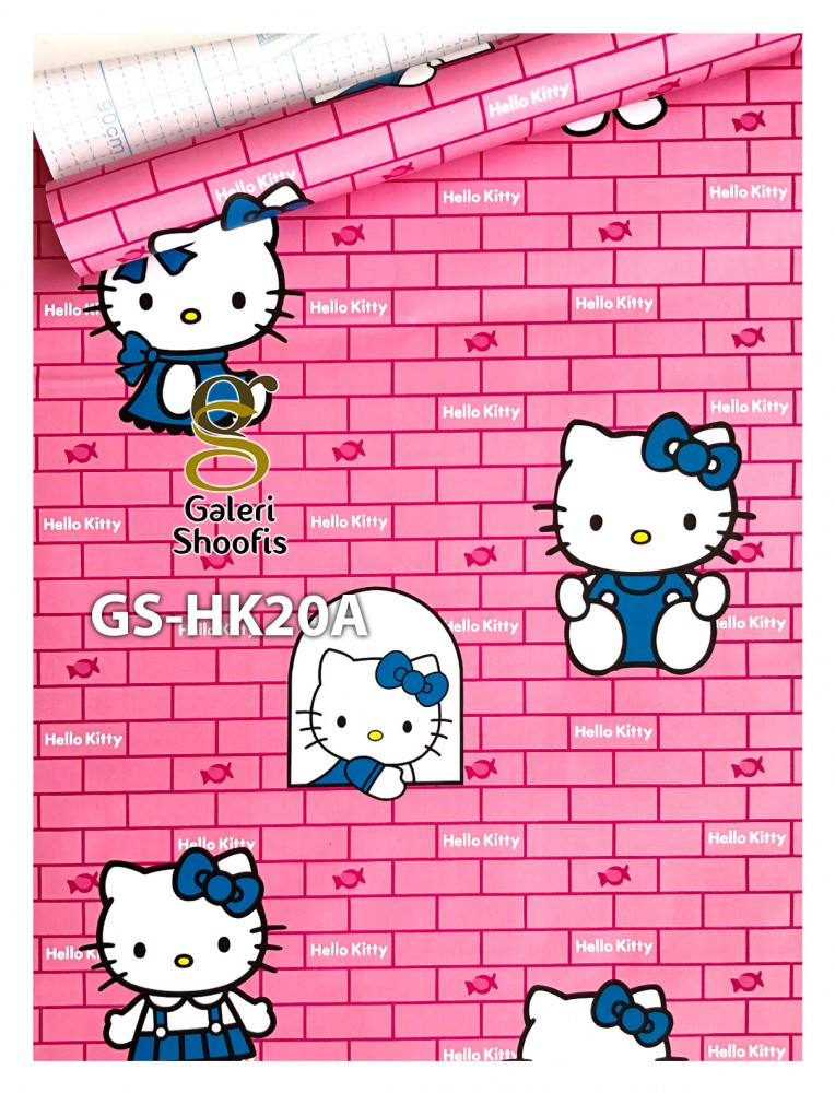 Wallpaper Sticker Hello Kitty Pink Bata kode GS-HK20A