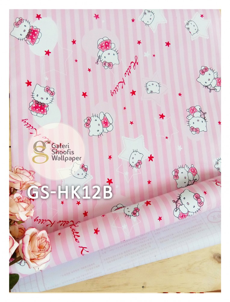 Wallpaper Sticker Motif Hello Kitty kode GS-HK12B