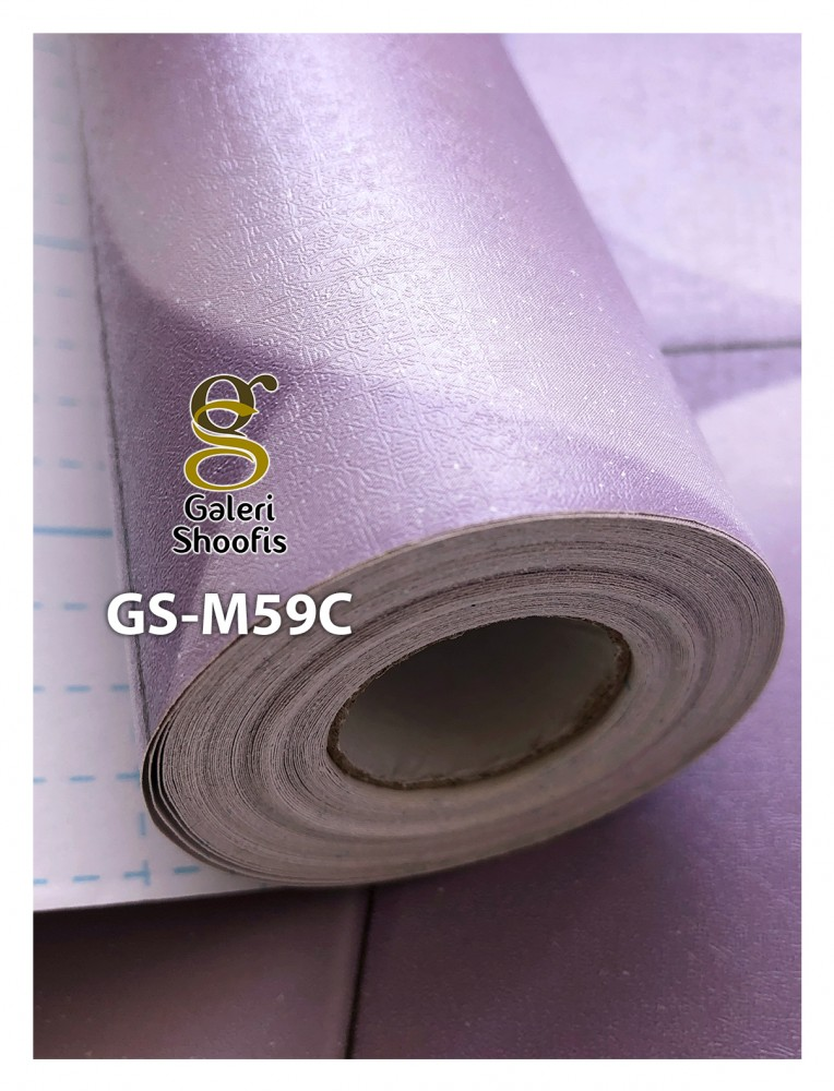 Wallpaper Sticker Motif Mozaik Pink kode GS-M59C