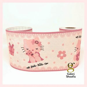 Wallpaper Dinding Border Premium Hello Kitty