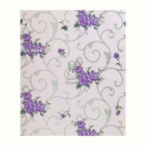 Wallpaper Sticker Batik Ulir Bunga Ungu GS-A60A